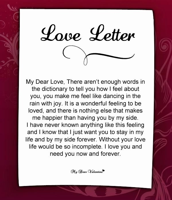 Romantic Love Letters for Him Unique Love Letter for Her 37 Love Letters for Her