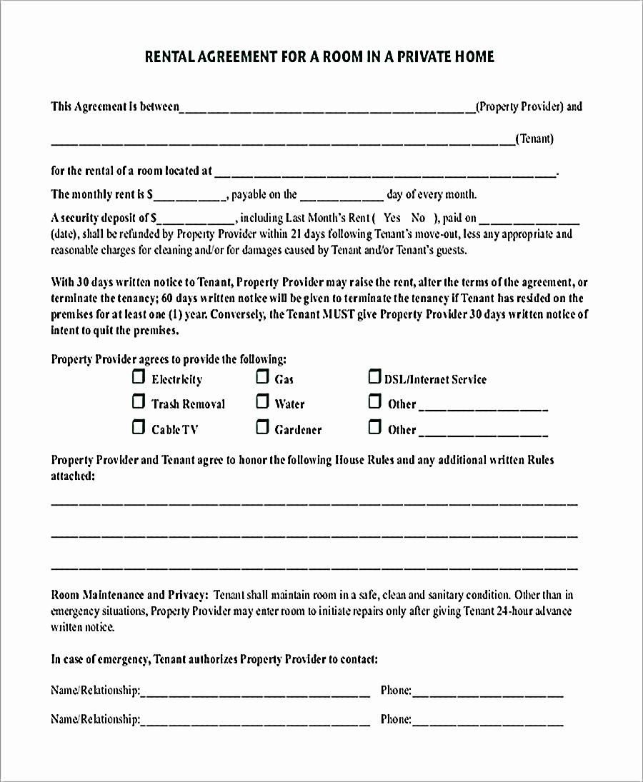 Room Rental Agreement Pdf Awesome 9 Room Rental Agreement Template