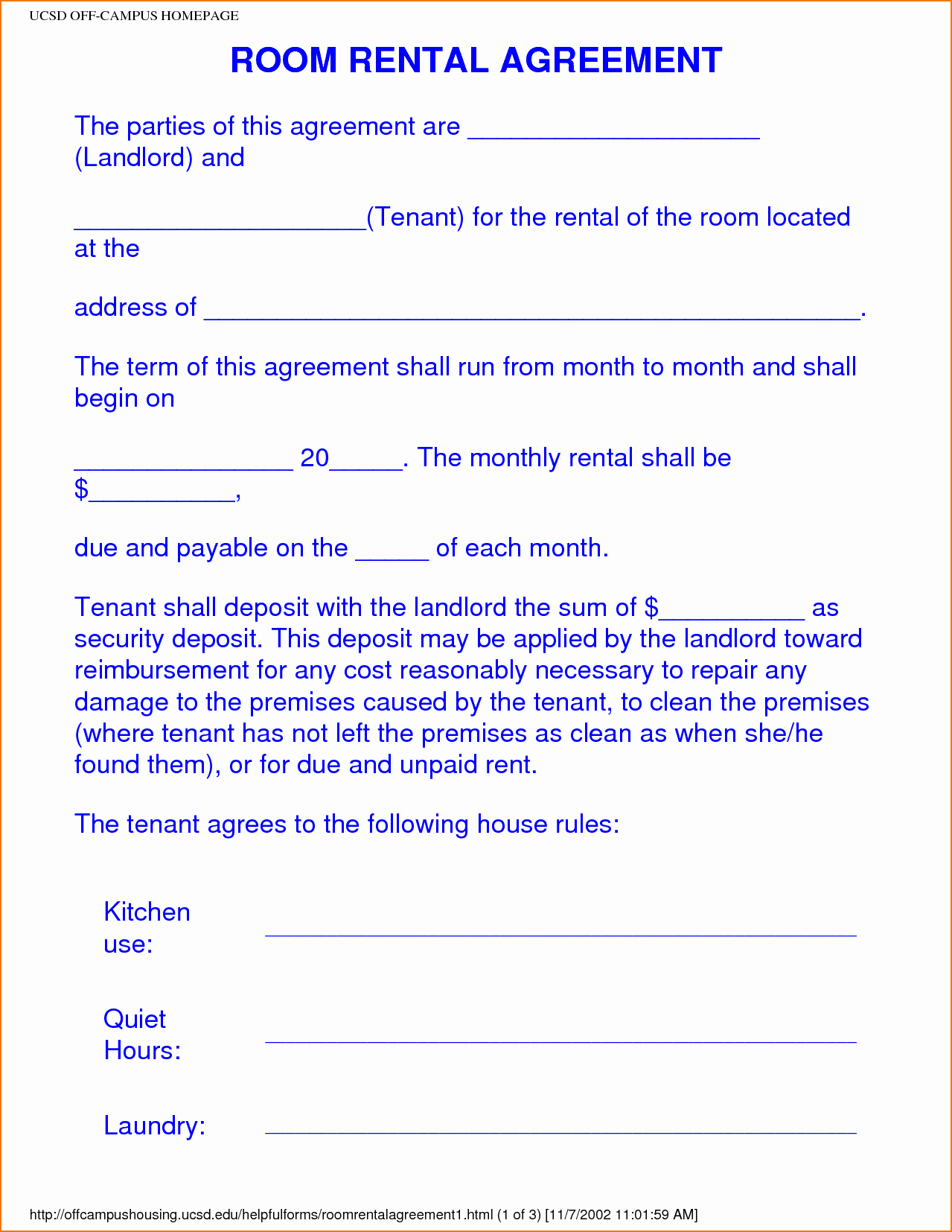 Room Rental Agreement Pdf Beautiful 6 Sample Room Rental Agreement