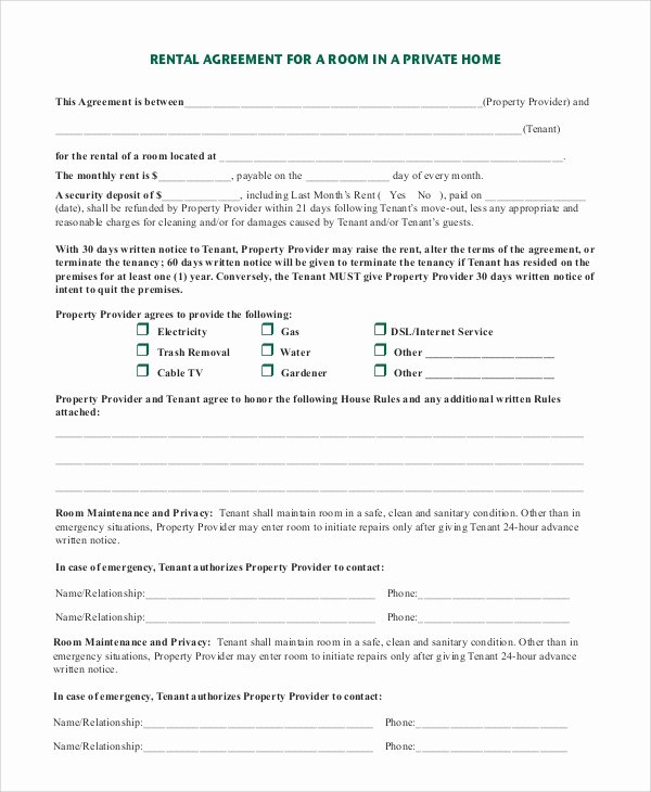 Room Rental Agreement Pdf Beautiful 8 Sample Room Rental Agreements Pdf Word