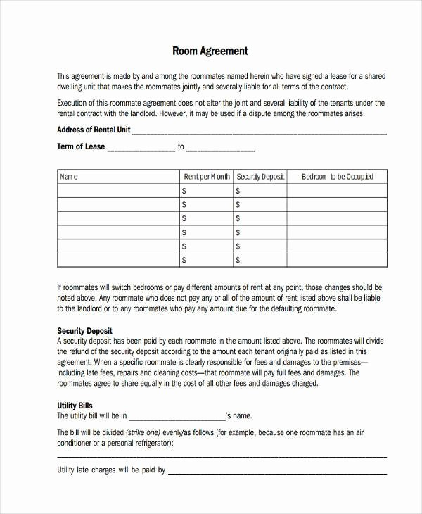 Room Rental Agreement Pdf Beautiful Room Lease Agreement Samples 9 Free Documents In Word Pdf