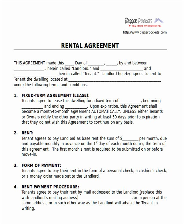 Room Rental Agreement Pdf Elegant 8 Room Rental Agreement form Sample Examples In Word Pdf