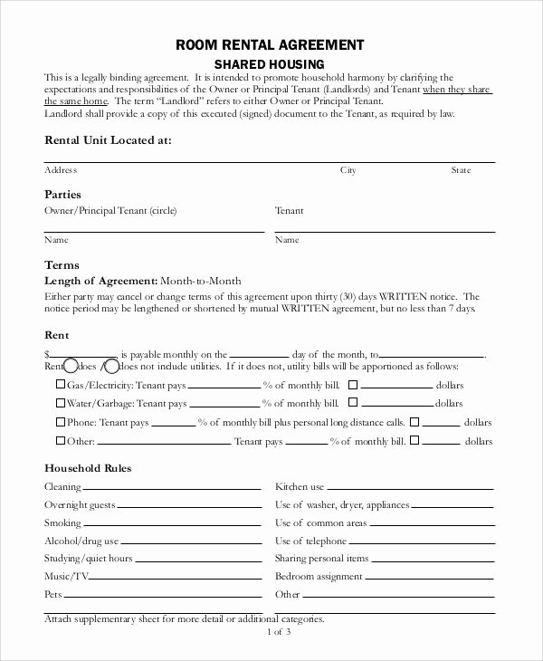 Room Rental Agreement Pdf Fresh Sample Agreement form 36 Examples In Word Pdf