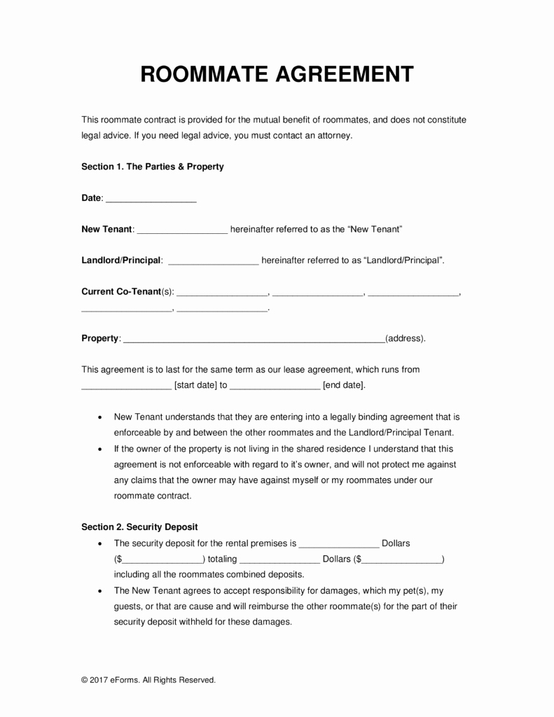 Room Rental Agreement Pdf Fresh Sample Lease Agreement for Renting A Room