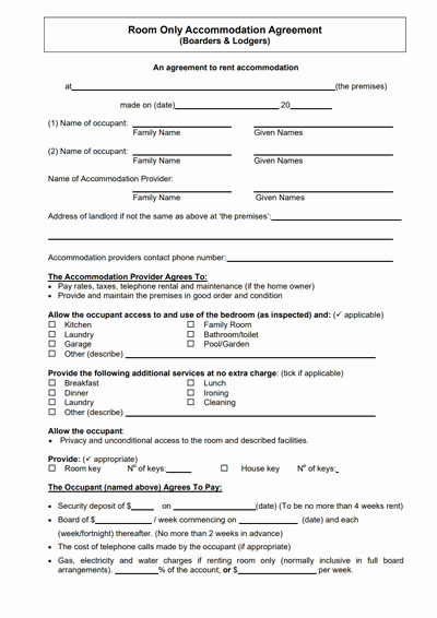 Room Rental Agreement Pdf Inspirational Room Rental Agreement Template Free Download Create
