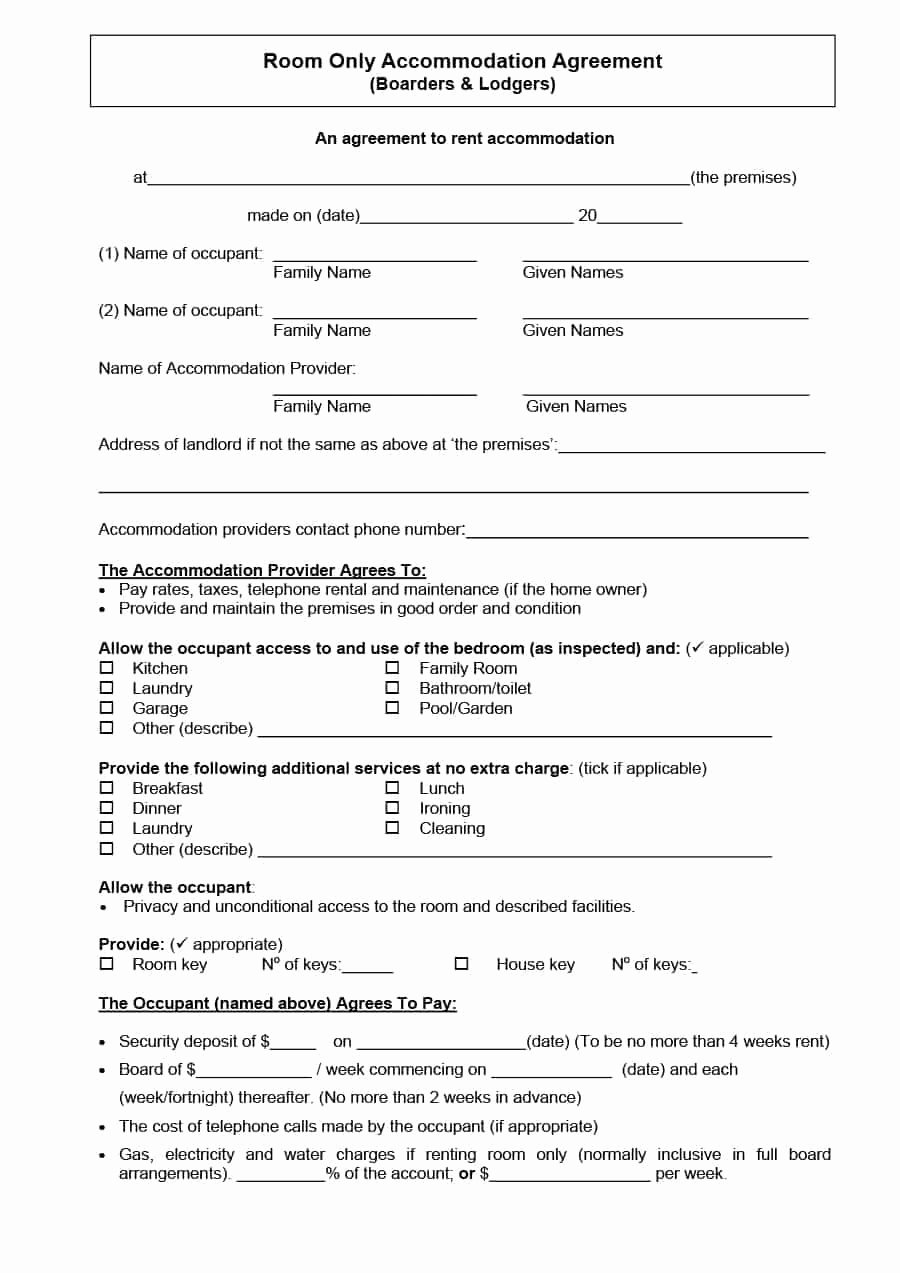 Room Rental Agreement Pdf Inspirational Roommate Lease Agreement Pdf