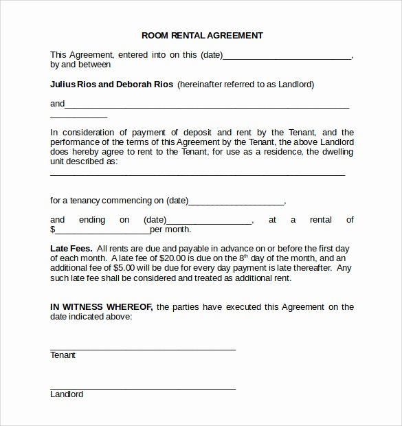Room Rental Agreement Pdf Luxury Room Rental Agreement 18 Download Free Documents In Pdf