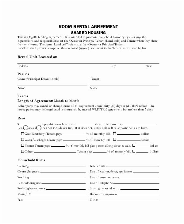 Room Rental Agreement Pdf New Rent Agreement form 9 Free Word Pdf Documents Download
