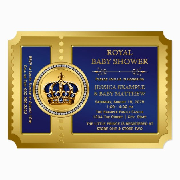 Royal Baby Shower Invitations Awesome Custom Royal Baby Shower Invites Templates
