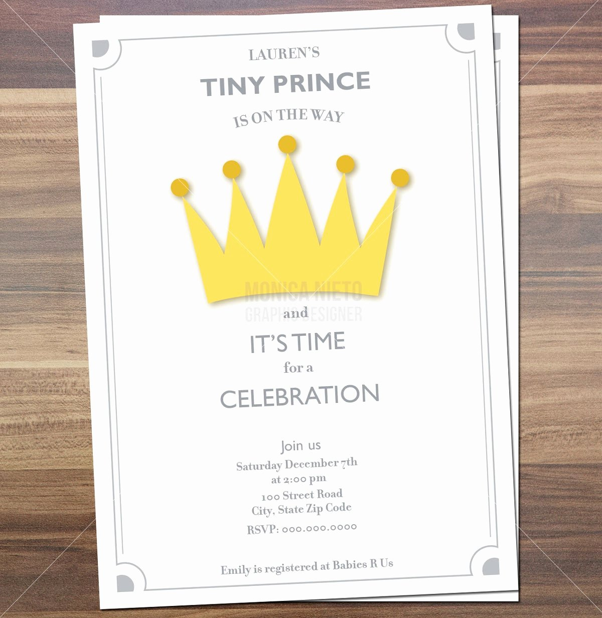 Royal Baby Shower Invitations Beautiful Printable Royal Prince Baby Shower Invitation Little Prince