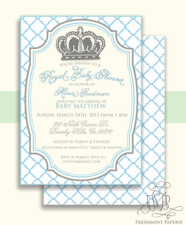 Royal Baby Shower Invitations Best Of Royal Baby Shower Invitation Baby Shower Invitation Prince