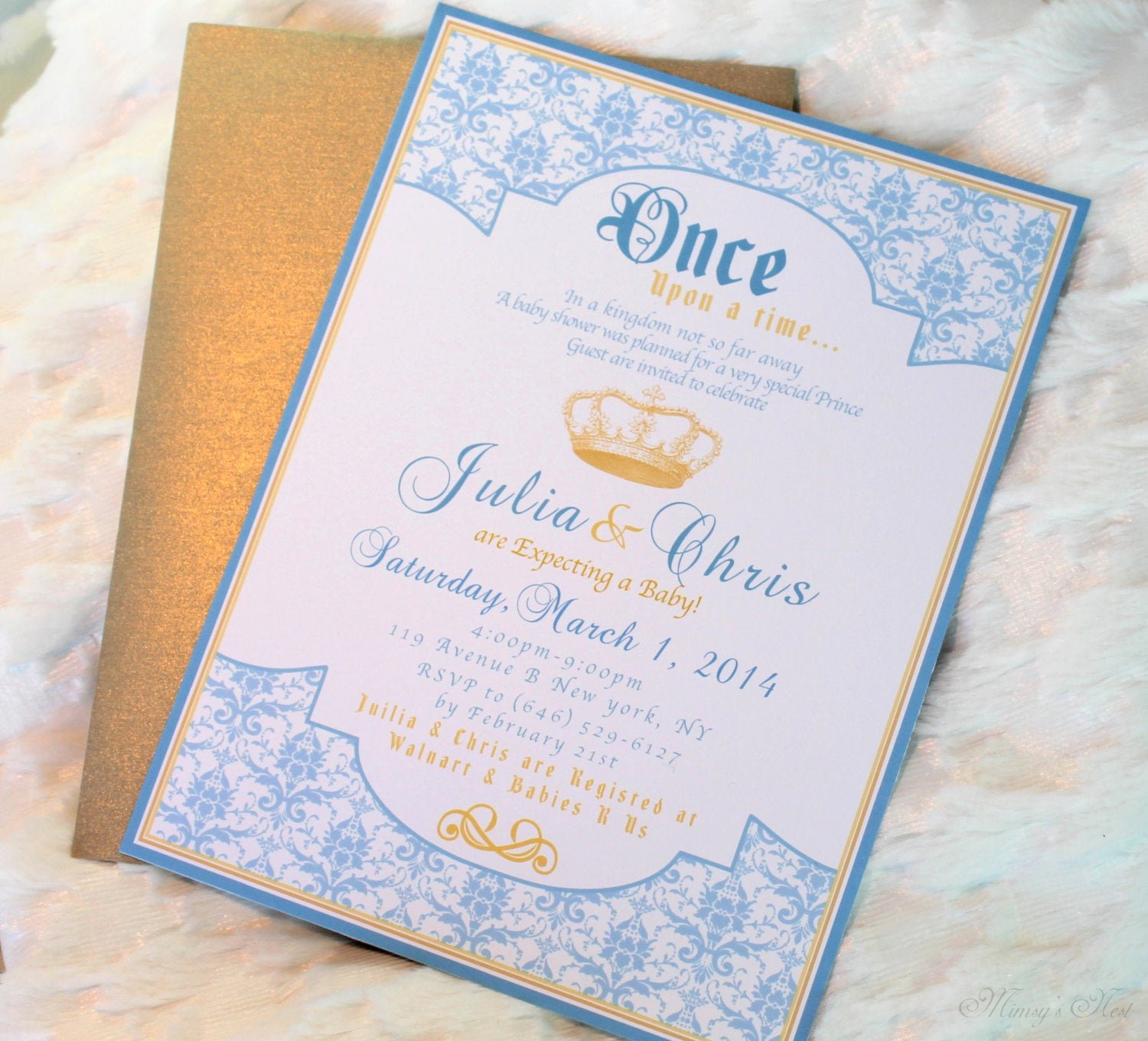 Royal Baby Shower Invitations Best Of Set Of 12 Royal Baby Blue Gold Prince Birthday Boy Invitations