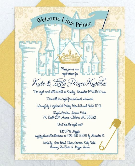 Royal Baby Shower Invitations Elegant Royal Baby Showers Royal Babies and Baby Shower