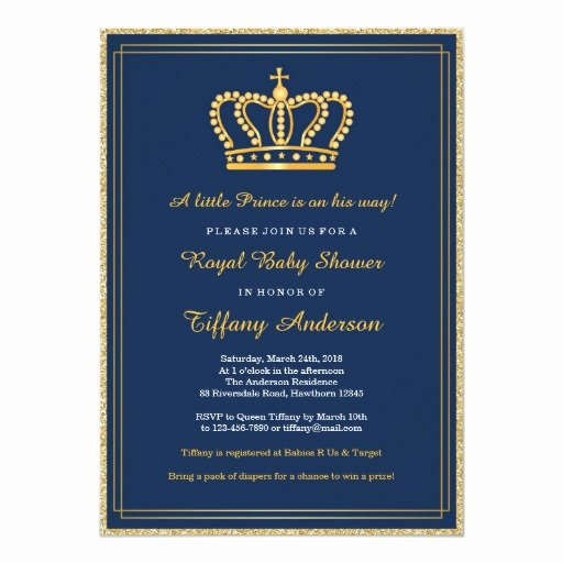 Royal Baby Shower Invitations Fresh Royal Baby Shower Invitation
