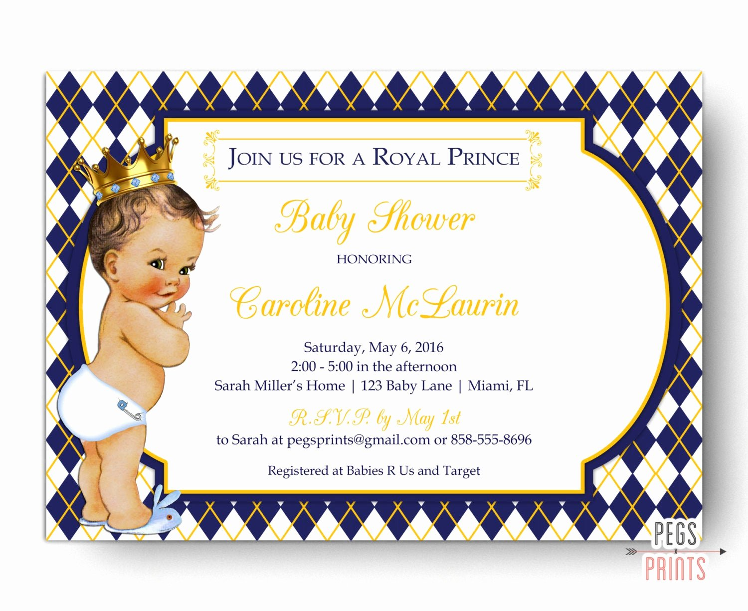 Royal Baby Shower Invitations Fresh Royal Prince Baby Shower Invitation Royal Baby Shower