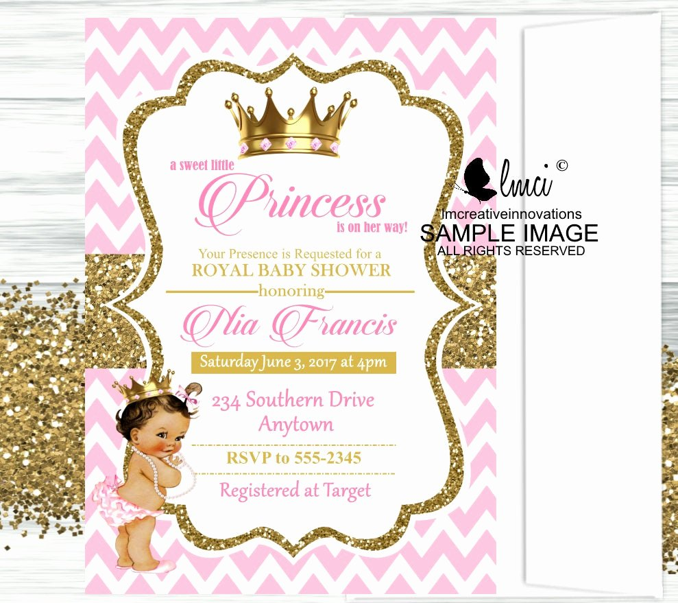 Royal Baby Shower Invitations Fresh Royal Princess Baby Shower Invitation Little Princess