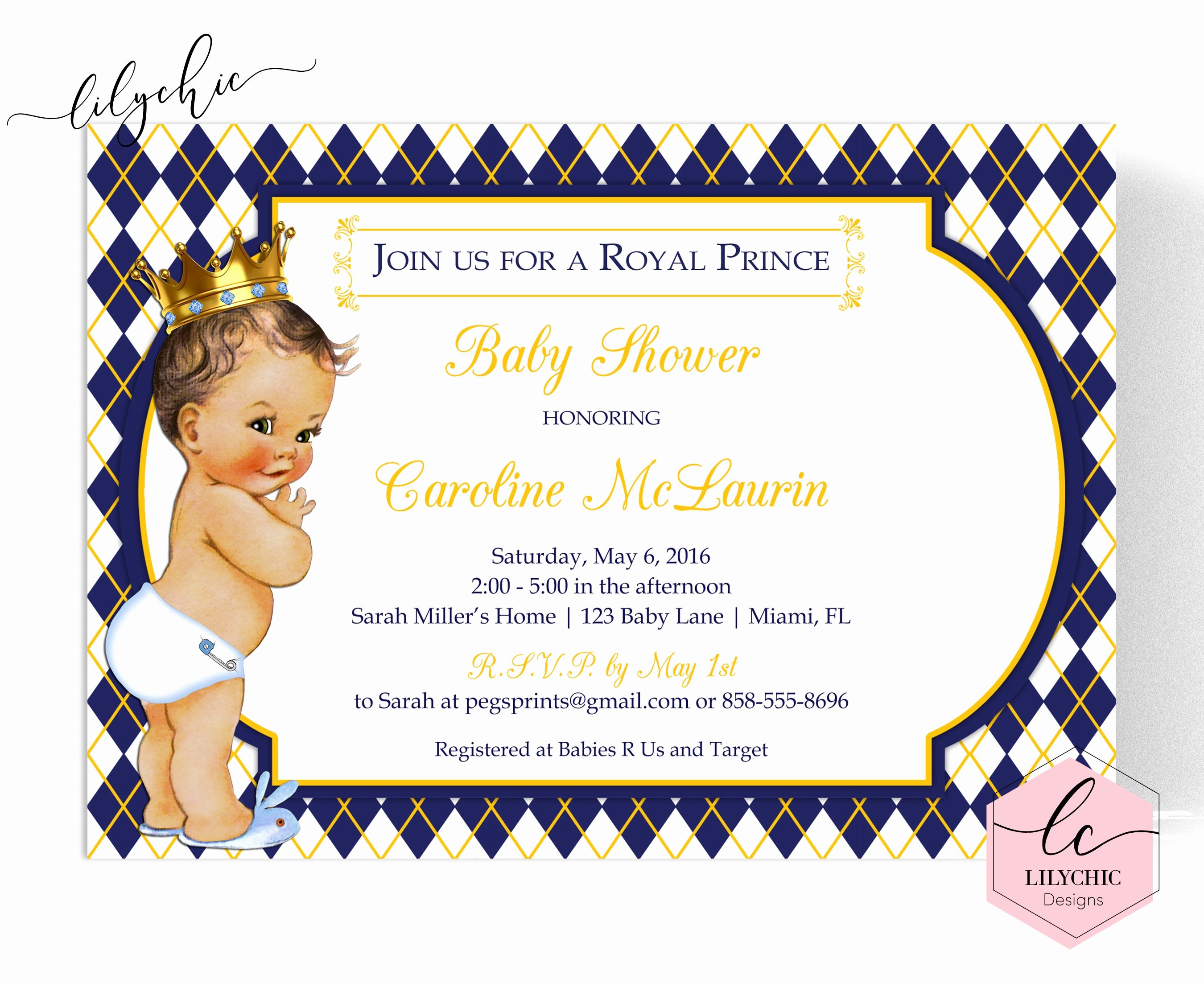 Royal Baby Shower Invitations Inspirational Royal Prince Baby Shower Invitation Royal Baby Shower