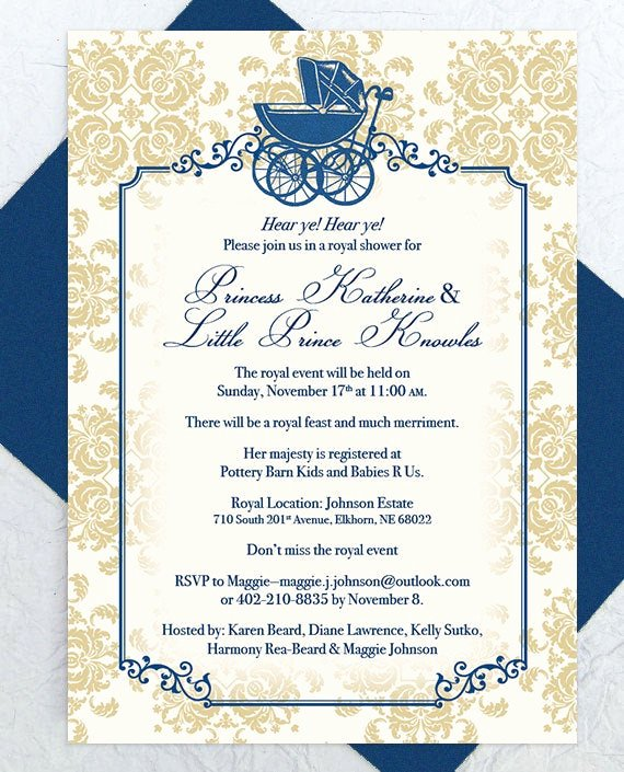 Royal Baby Shower Invitations Luxury Baby Shower Invitation Royal Baby Shower Baby Carriage