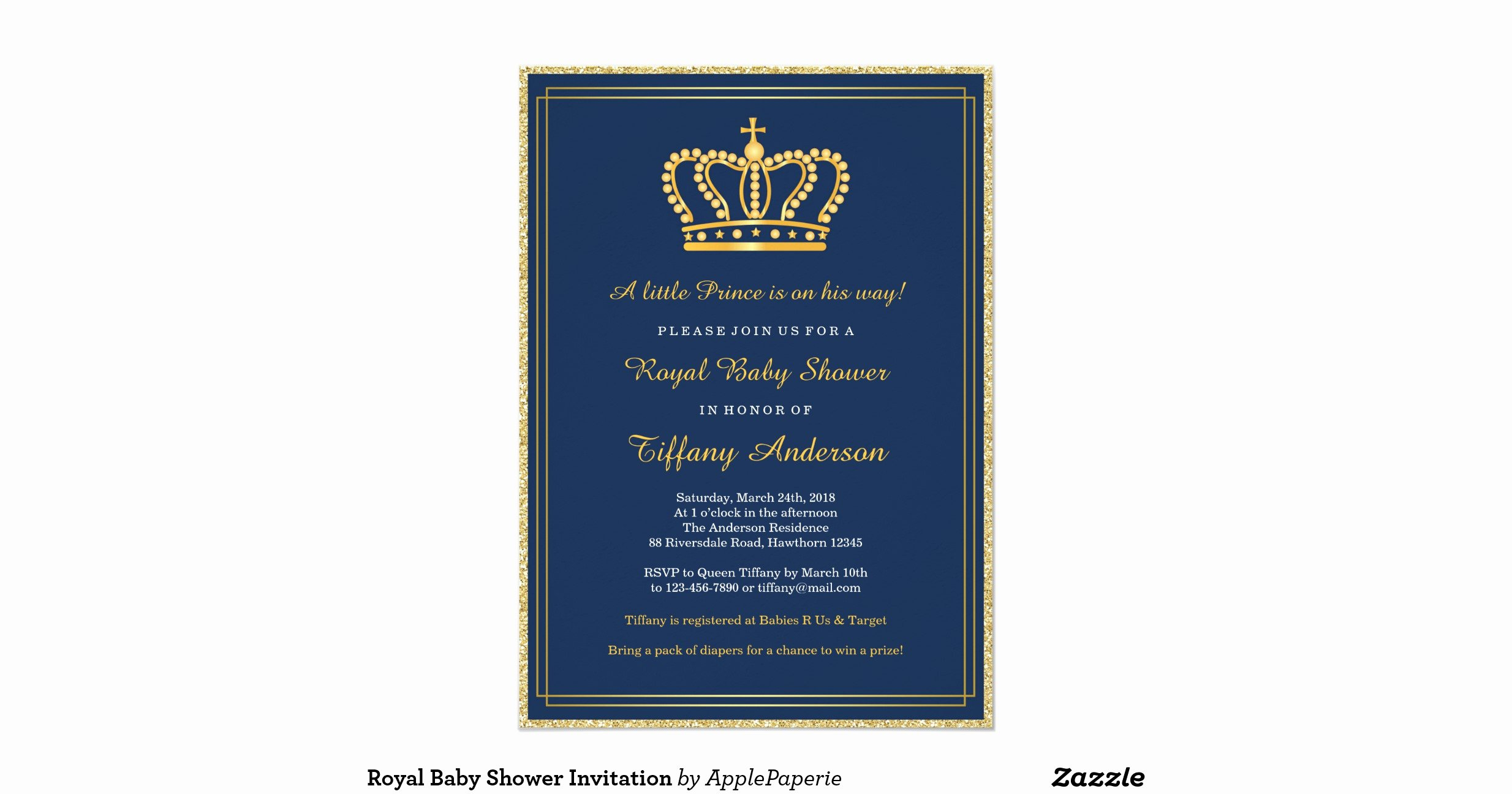 Royal Baby Shower Invitations New Royal Baby Shower Invitation