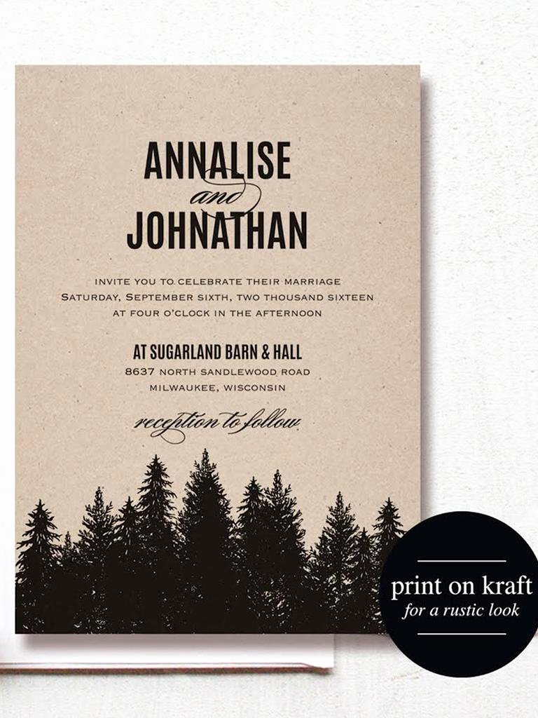 Rustic Wedding Invitation Templates Awesome 16 Printable Wedding Invitation Templates You Can Diy