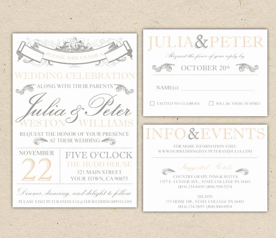 Rustic Wedding Invitation Templates Awesome Rustic Wedding Invitation Template Vintage Modern Printable