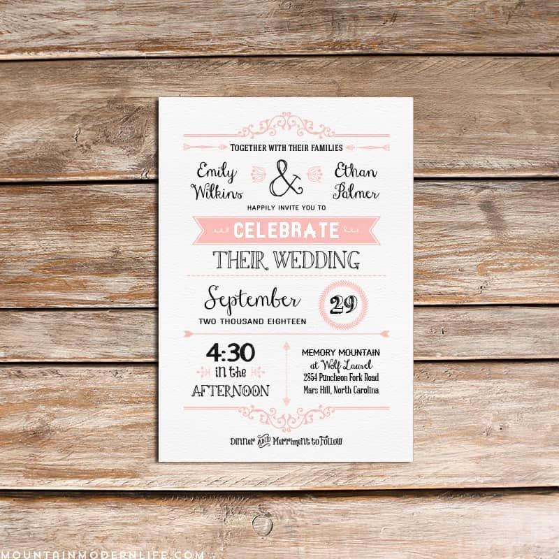 Rustic Wedding Invitation Templates Best Of Vintage Rustic Diy Wedding Invitation Template