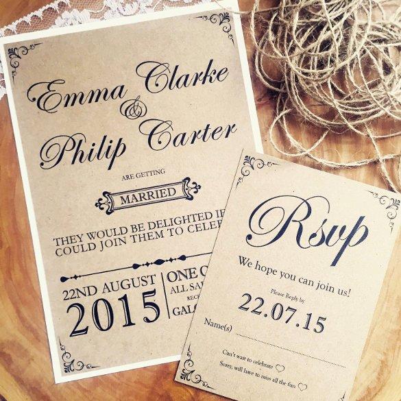 Rustic Wedding Invitation Templates Inspirational 28 Rustic Wedding Invitation Design Templates Psd Ai