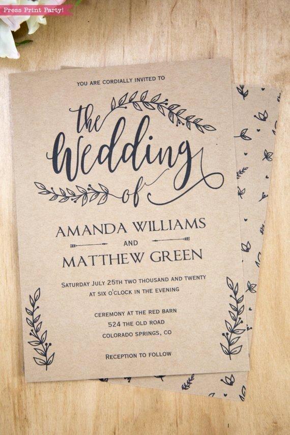 Rustic Wedding Invitation Templates Inspirational Great Country Wedding Invitation Templates Ideas Mericahotel