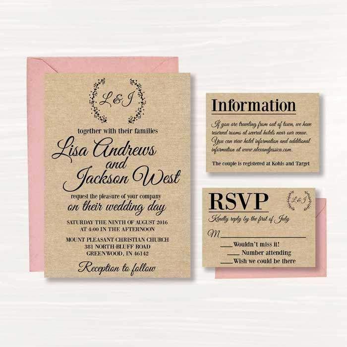Rustic Wedding Invitation Templates Luxury Best 25 Free Printable Wedding Invitations Ideas On