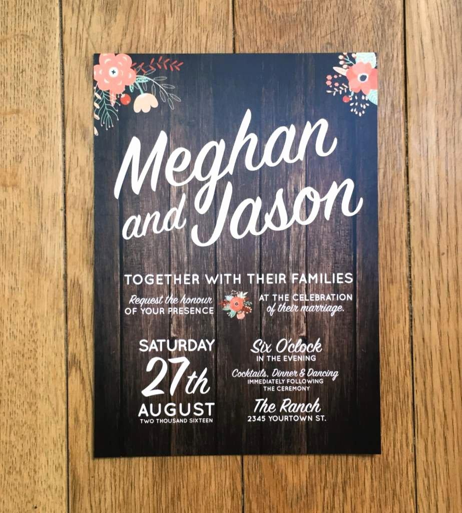 Rustic Wedding Invitation Templates Luxury Rustic Invitation Templates Free
