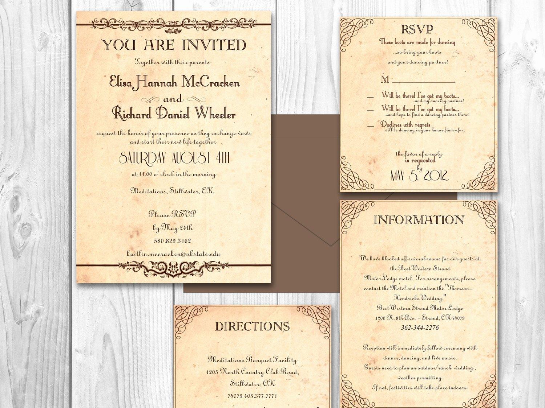Rustic Wedding Invitation Templates Luxury Rustic Wedding Invitations Printable by Designedwithamore