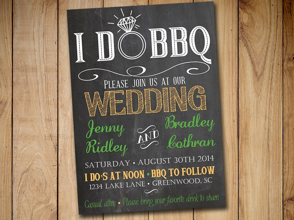 Rustic Wedding Invitation Templates New I Do Bbq Wedding Invitation Template by Paintthedaydesigns