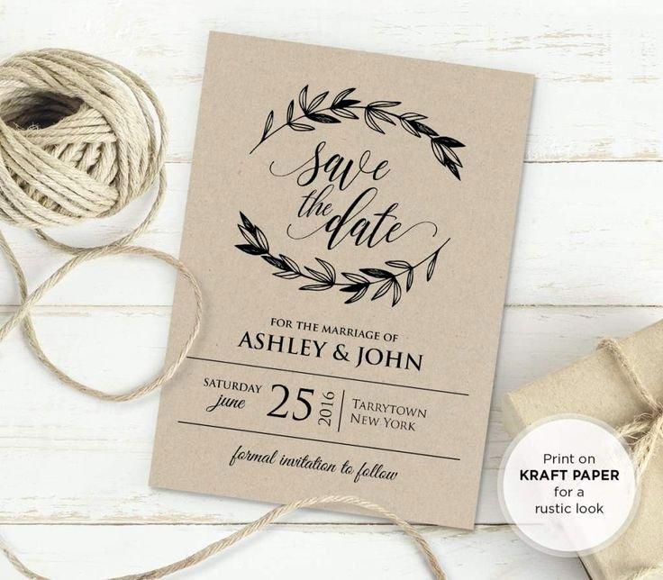 Rustic Wedding Invitation Templates Unique 25 Best Ideas About Invitation Templates On Pinterest