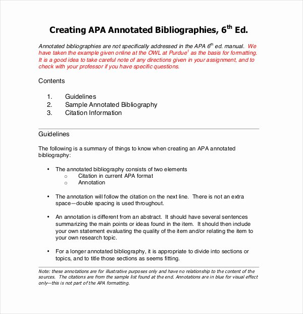 Sample Apa Annotated Bibliography Best Of Annotated Bibliography Sample Newspaper Article A