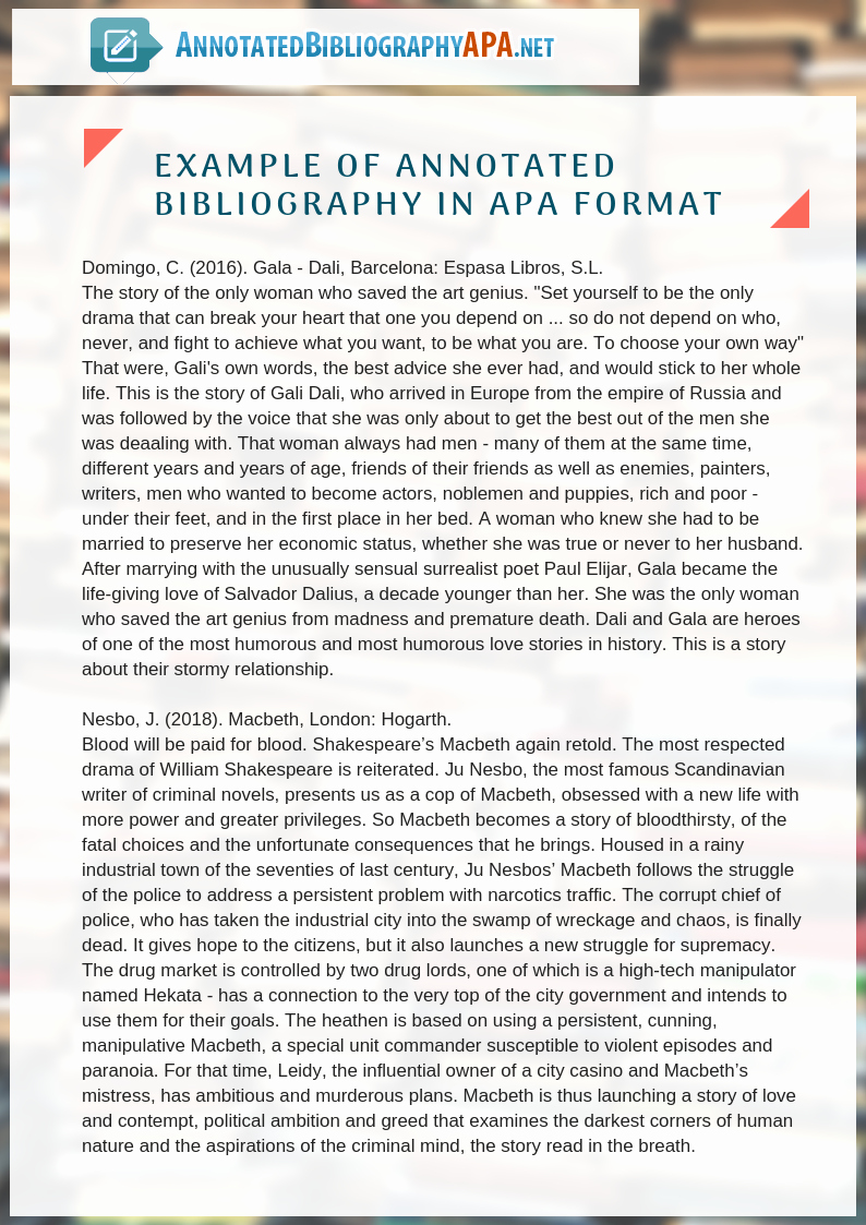 Sample Apa Annotated Bibliography Best Of Perfect Sample Annotated Bibliography Apa 6th Edition