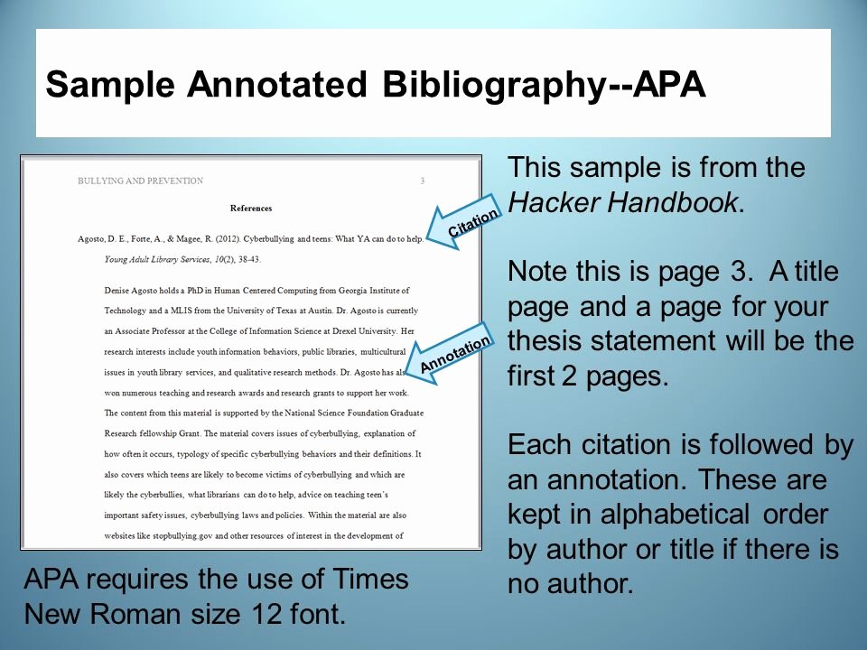 Sample Apa Annotated Bibliography Lovely Annotated Bibliography 2011 Apa
