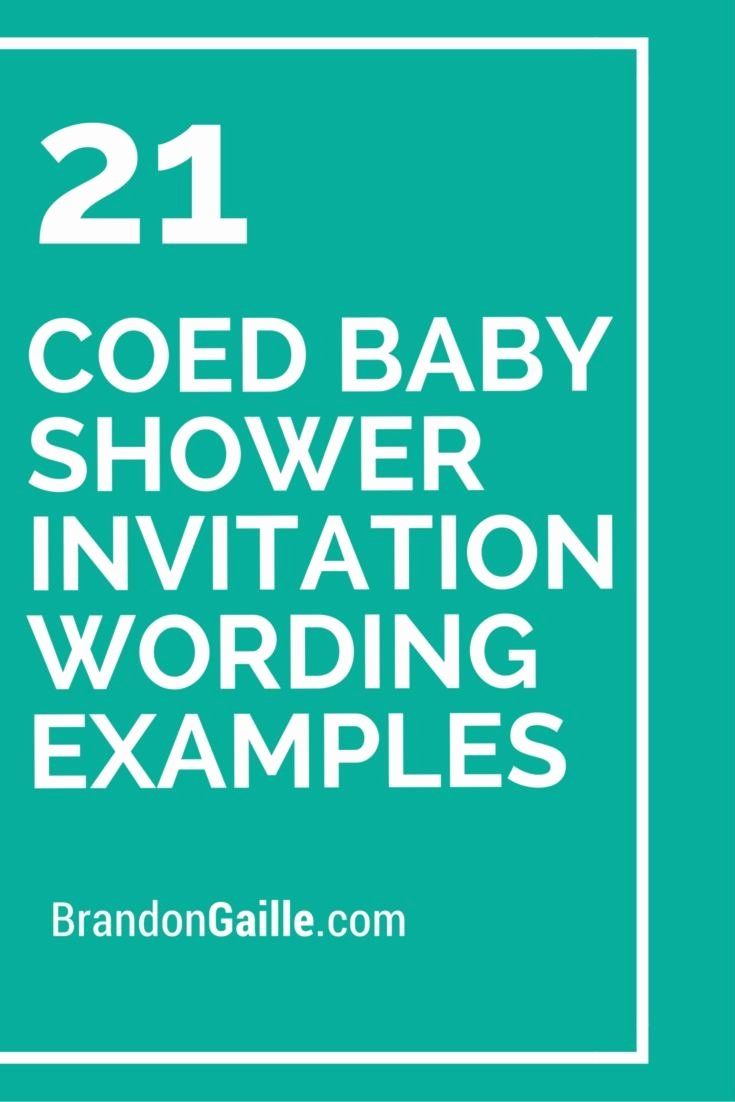 Sample Baby Shower Invitations Fresh 21 Coed Baby Shower Invitation Wording Examples