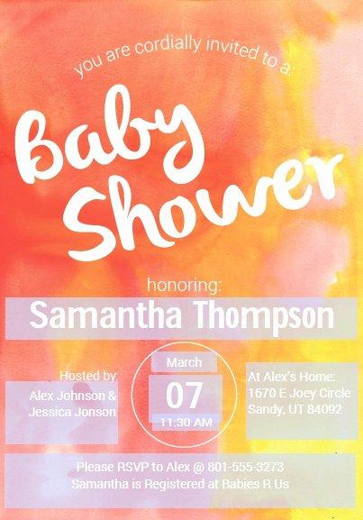 Sample Baby Shower Invitations Fresh 9 Free Sample Baby Shower Invitation Templates Printable
