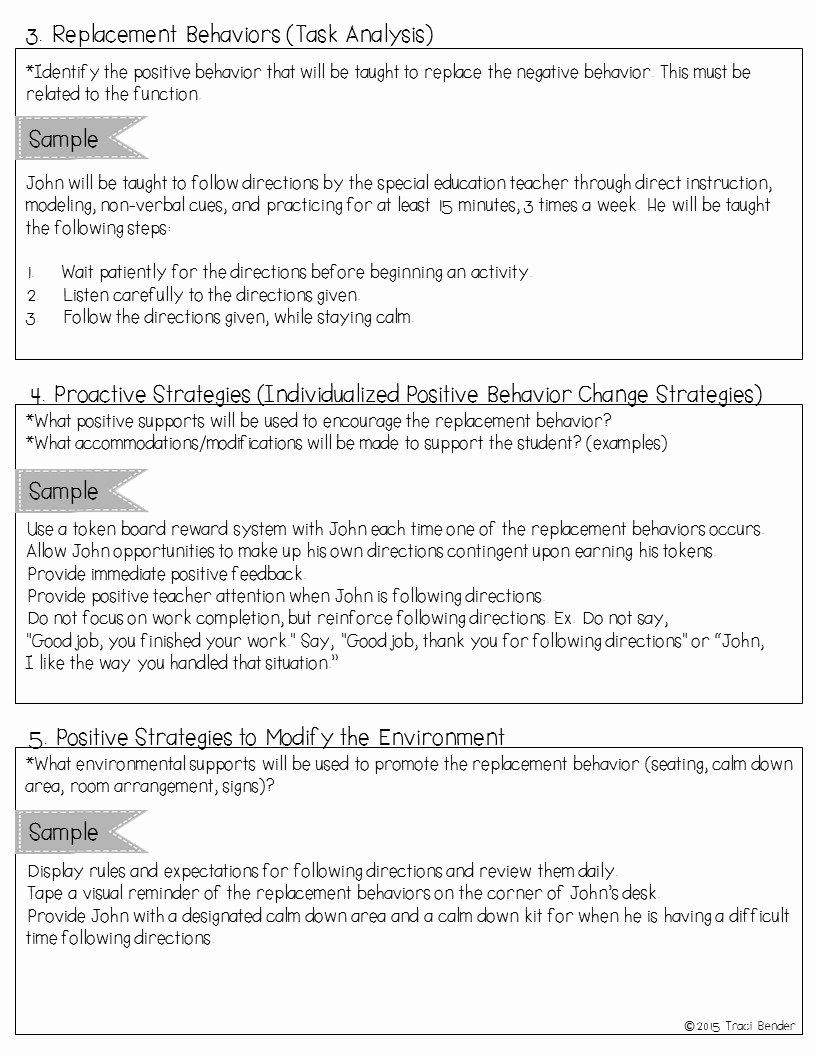 Sample Behavior Intervention Plan Fresh the Bender Bunch Creating A Behavior Intervention Plan Bip