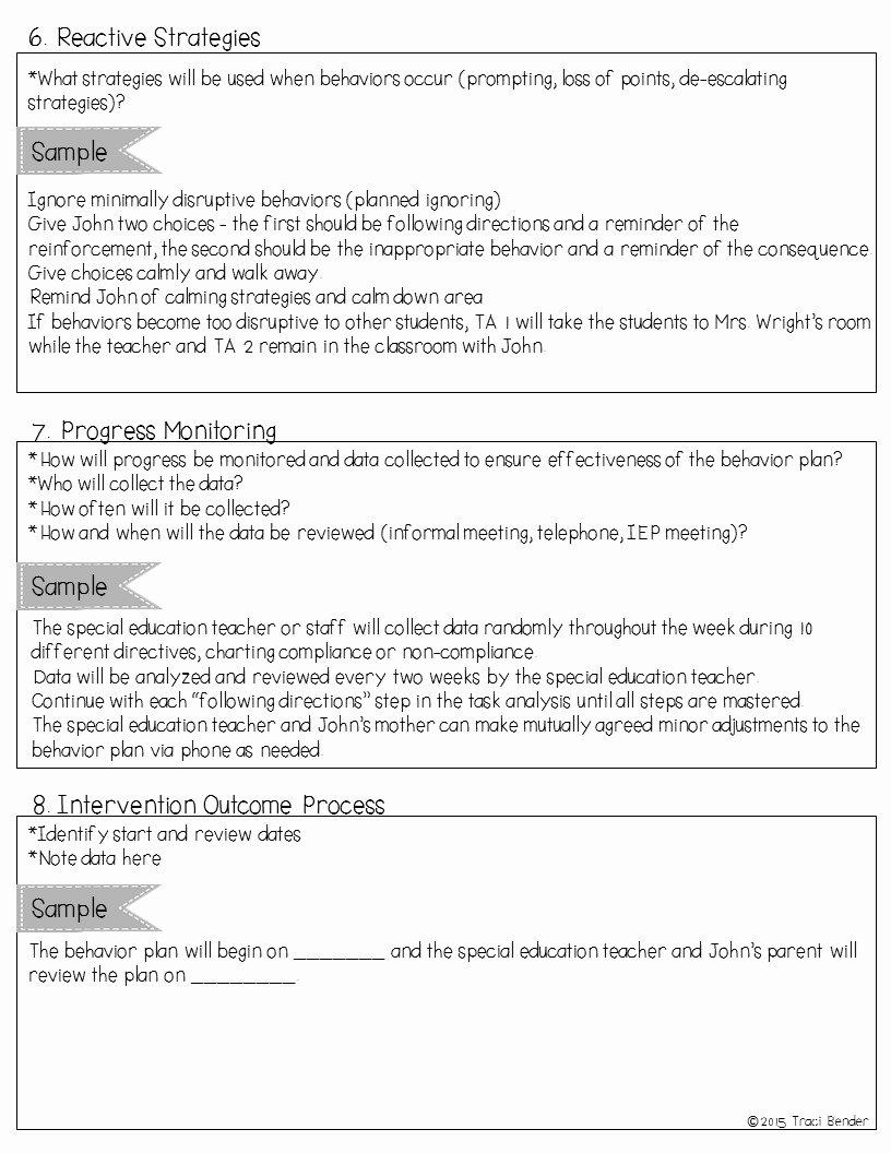 Sample Behavior Intervention Plan New the Bender Bunch Creating A Behavior Intervention Plan Bip