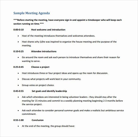 Sample Board Meeting Minutes Best Of Free 11 Sample Board Meeting Agenda Templates In Pdf