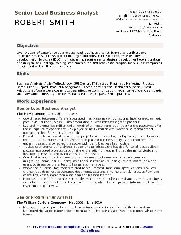 Sample Business Analyst Resume Awesome Sample Resume Business Analyst software Callidus