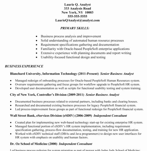 Sample Business Analyst Resume Luxury Business Analyst Resume Tips and Samples