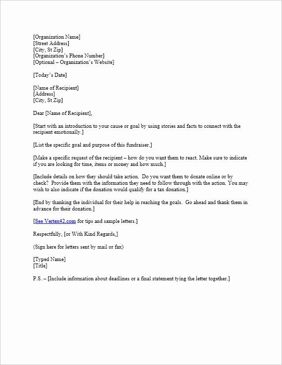 Sample Donation Request Letter Elegant Free Request for Donation Letter Template