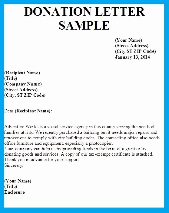 Sample Donation Request Letter Lovely Sample Letters asking for Donations