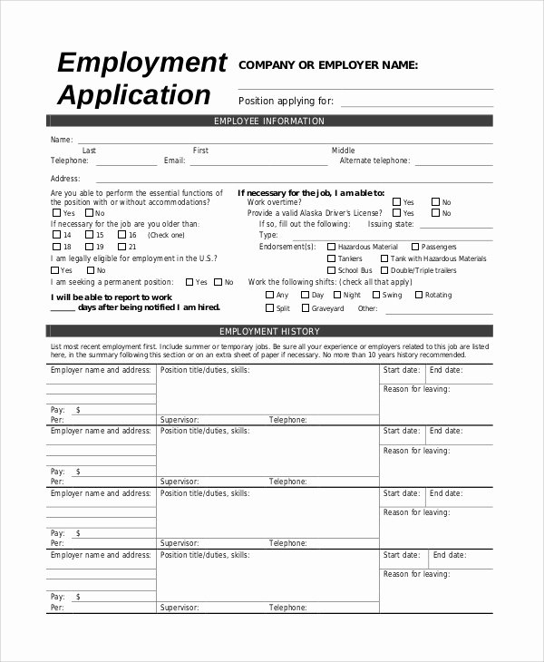 Sample Job Application form Best Of Sample Job Application 8 Examples In Pdf