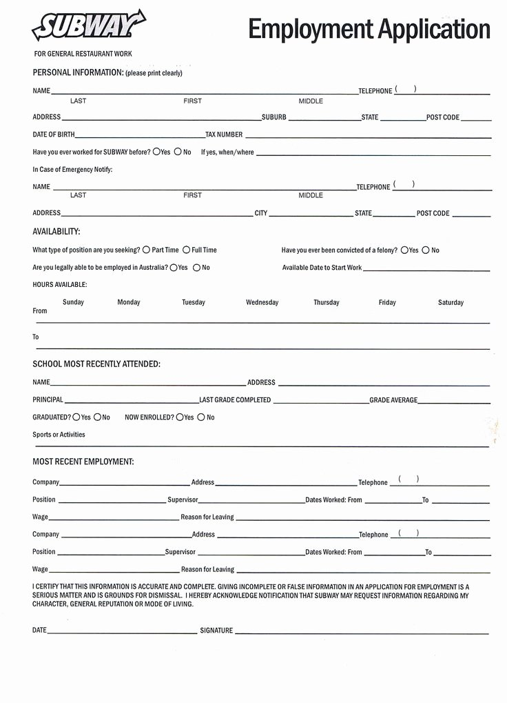 Sample Job Application form Luxury Printable Job Application forms Online forms Download and