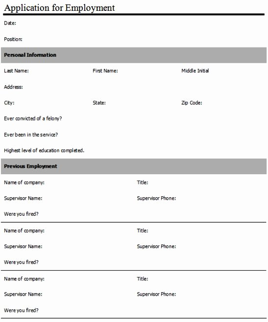 Sample Job Application form New Anatomy Of Word Create An Employment Application form
