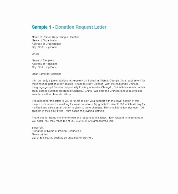 Sample Letters asking for Donations Awesome 43 Free Donation Request Letters & forms Template Lab
