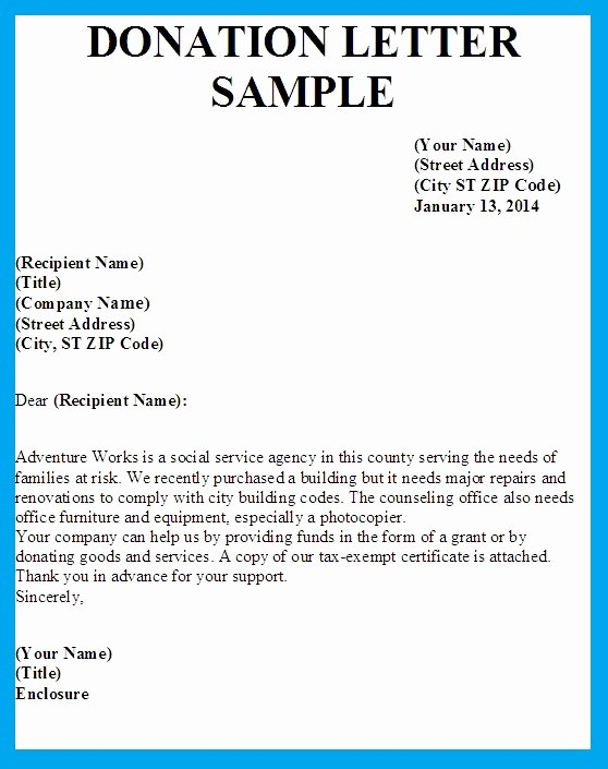 Sample Letters asking for Donations Inspirational Sample Letter asking for Donation